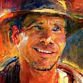 Harrison Ford Indiana Jones Portrait 3 by Yury Malkov
