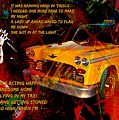 Harry Chapin Taxi Song Poster With Lyrics by John Malone