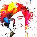 Harry Styles Paint Splatter by Dan Sproul