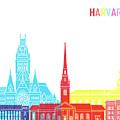 Harvard Ma Skyline Pop by Pablo Romero