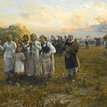 Harvest Festival By Alfred Wierusz-kowalski 1849-1915 by Adam Asar