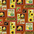 Harvest Market Pumpkins Sunflowers N Red Wagon by Audrey Jeanne Roberts