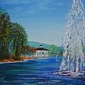 Harveston Lake Fountain by Eric Johansen