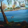 Harveston Lake Geese by Eric Johansen