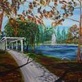 Harveston Lake Path by Eric Johansen