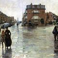 Hassam: Rainy Boston, 1885 by Granger