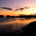 Hastings Harbour Arm At Sunset by Lee Sulsh