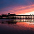 Hastings Pier - Purple by Dawn OConnor