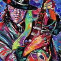 Hat And Guitar by Debra Hurd