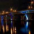 Hathaway Bridge At Night by Anthony Dezenzio