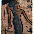 Hathor Holding The Ankh Sign by Bernice Williams