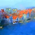 Haugesund Harbour Norway by Michael Greenaway