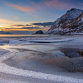 Haukland Sunset by Michael Blanchette