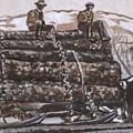 Hauling Logs Historical Vignette by Dawn Senior-Trask