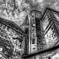 Haunted Church In Black And White by Kay Brewer