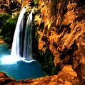 Havasu Waterfall by Dr Bob Johnston