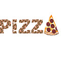 Have A Slice - Pizza Typography by Kathleen Sartoris