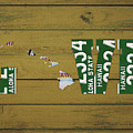 Hawaii State Love License Plate Art Phrase by Design Turnpike