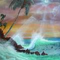 Hawaii Sunset by Leland Castro