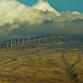 Hawaii Windmills On Maui One by Vance Fox