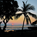 Hawaiian Big Island Sunset  Kailua Kona  Big Island  Hawaii by Michael Bessler