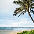 Hawaiian Boy Fishing by Daryl L Hunter