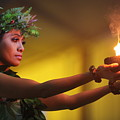 Hawaiian Dancer And Firepots by Nadine Rippelmeyer