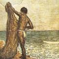 Hawaiian Fisherman Painting by Hawaiian Legacy Archive - Printscapes