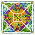 Hawaiian Mandala II - Bird Of Paradise by Diane Thornton