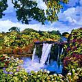 Hawaiian Paradise Falls by David Lloyd Glover