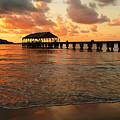 Hawaiian Sunset Hanalei Bay 1 by Bob Christopher