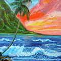 Hawaiian Sunset  by Jenny Lee