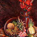 Hawaiian Tropical Fruit Still Life by Karen Whitworth