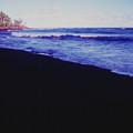 Hawaiin Black Sand Beach by Ron Swonger