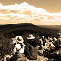 Hawk Mountain In Sepia by Donna Brown
