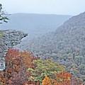 Hawksbill Crag Misty Morning by JC Findley