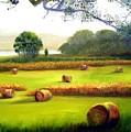 Hay Bales by Julie Lamons