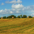 Hay Bales Panoramic by Barry Jones