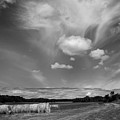 Hay Field And Barn Clarks Lake Road by Stephen Mack