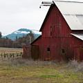 Hayfork Red Barn by Lorraine Devon Wilke