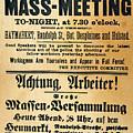 Haymarket Handbill, 1886 by Granger