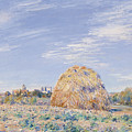 Haystack On The Banks Of The Loing by Alfred Sisley