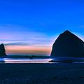 Haystack Rock by Abhay P
