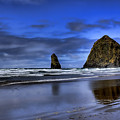Haystack Rock And The Needles by David Patterson