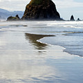 Haystack Rock Cannon Beach by Toula Mavridou-Messer