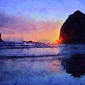 Haystack Rock by Chris Scroggins