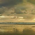 Haystack Sunset Panorama by Don Schwartz