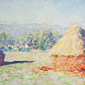 Haystacks In The Sun by Claude Monet