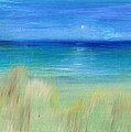 Hazy Beach Mini Oil On Masonite by Regina Valluzzi