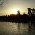 Hazy Mississippi River Sunrise by Kent Lorentzen